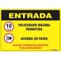PLACA ENTRADA - AVISO AOS USUÁRIOS