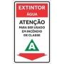 Placa Extintor - ÁguaClasse A