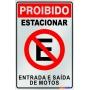 Placa Não Estacione - PES 003