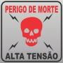 Placa Perigo - Alta Tensão 2