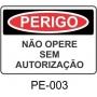 Placas de Perigo - P003