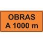 PLACAS INALIZAÇÃO DE OBRAS - OBRAS A 1000 M - 200X100 CM