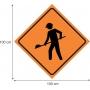 Placas sinalização de Obras 100x100cm - OEP 110