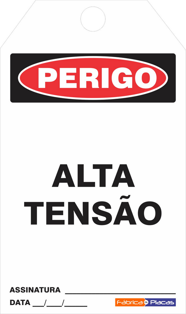 CARTÂO DE TRAVAMENTO - PERIGO ALTA TENSÃO