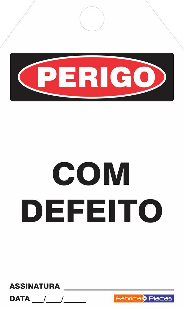 CARTÂO DE TRAVAMENTO - PERIGO COM DEFEITO