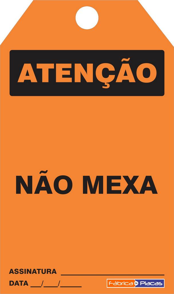 CARTÃO DE TRAVAMENTO - ATENÇÃO NÂO MEXA
