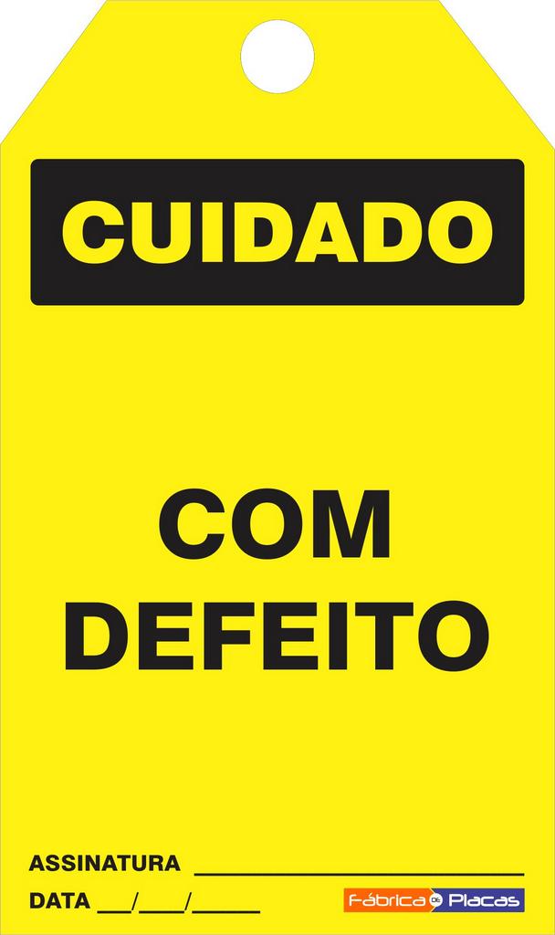 CARTÃO DE TRAVAMENTO - COM DEFEITO