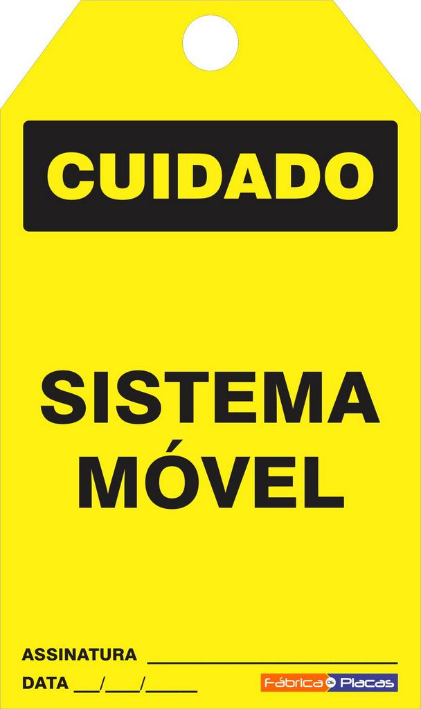 CARTÃO DE TRAVAMENTO - CUIDADO SISTEMA MÓVEL