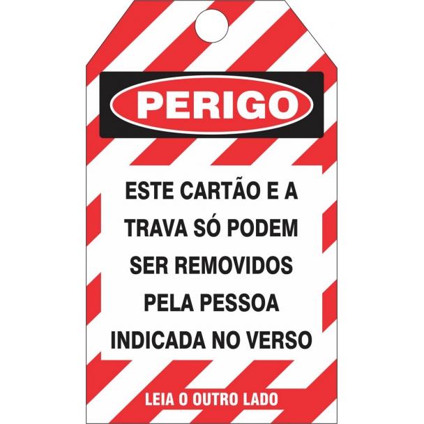 CARTÃO DE TRAVAMENTO - PERIGO