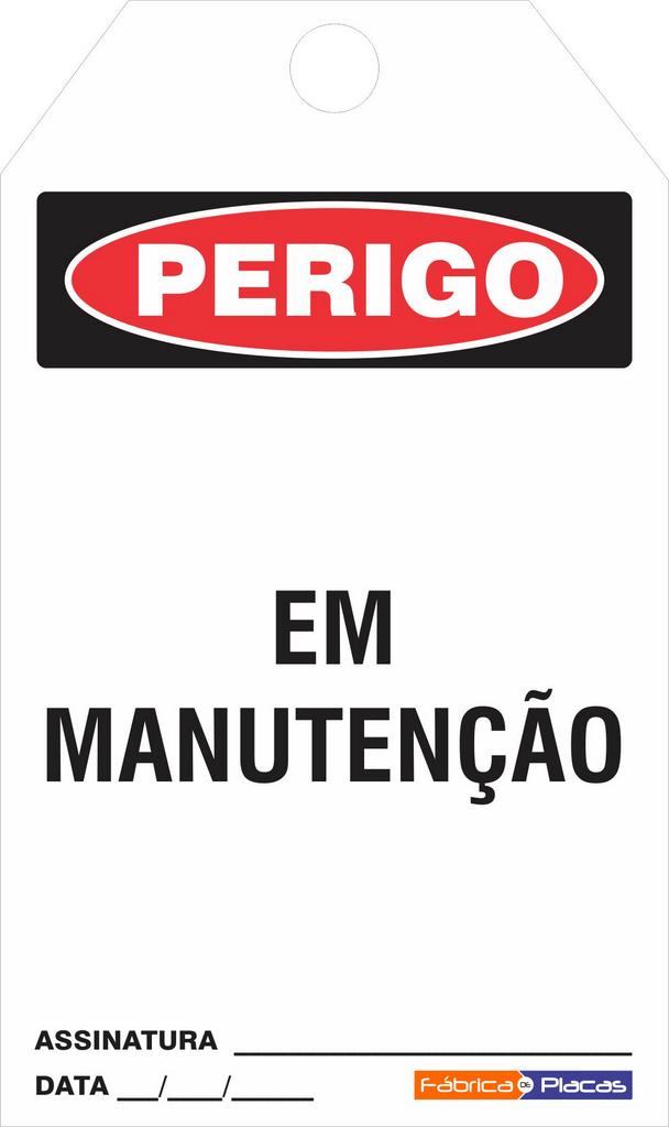 CARTÃO E TRAVAMENTO - PERIGO EM MANUTENÇÃO