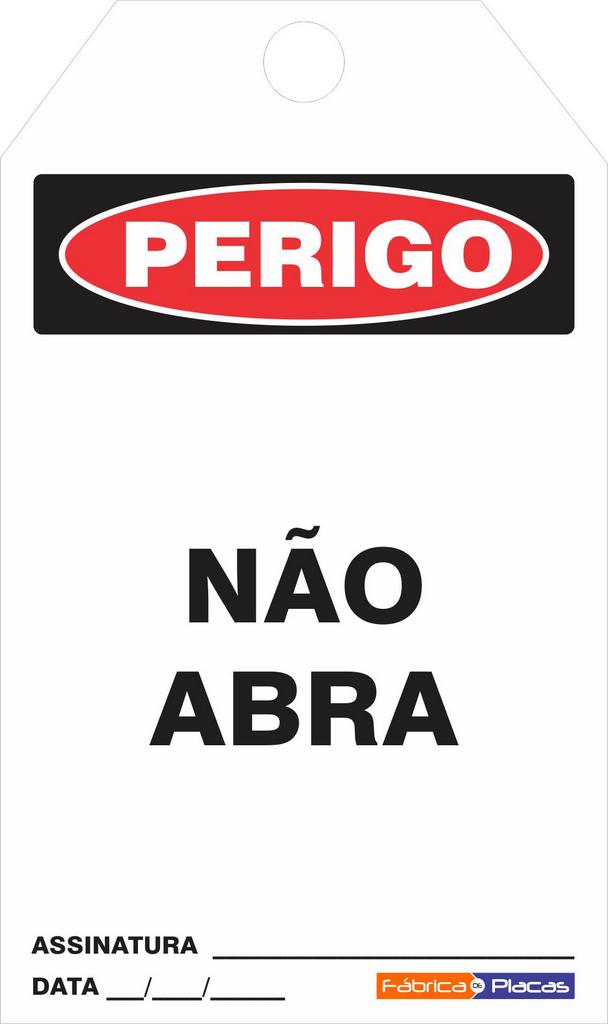 CARTÔES DE CONTROLE - PERIGO NÃO ABRA