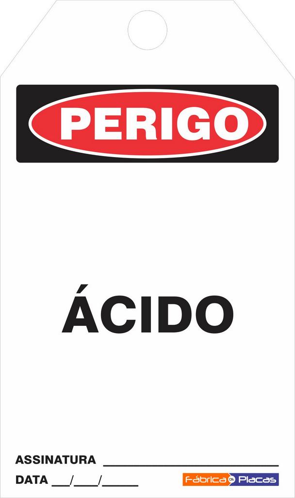 CARTÕES DE TRAVAMENTO - PERIGO ÁCIDO