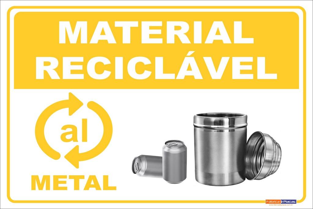 Coleta Seletiva em PVC - Metal
