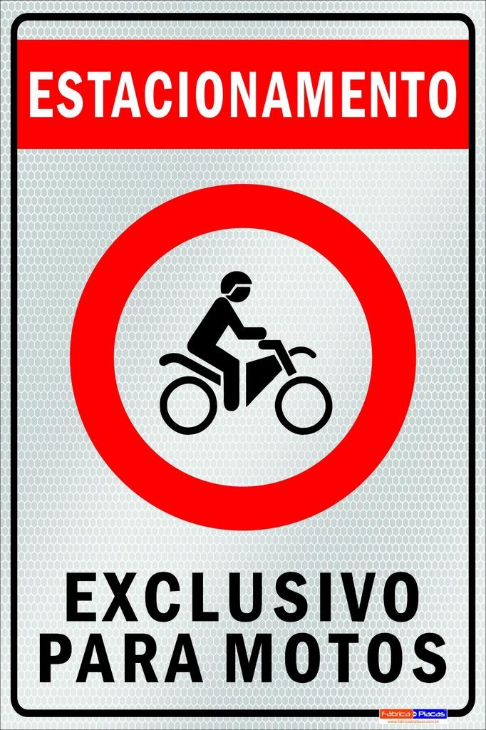 ESTACIONAMENTO PERMITIDO - PONTO MOTOTAXI 50x70 cm