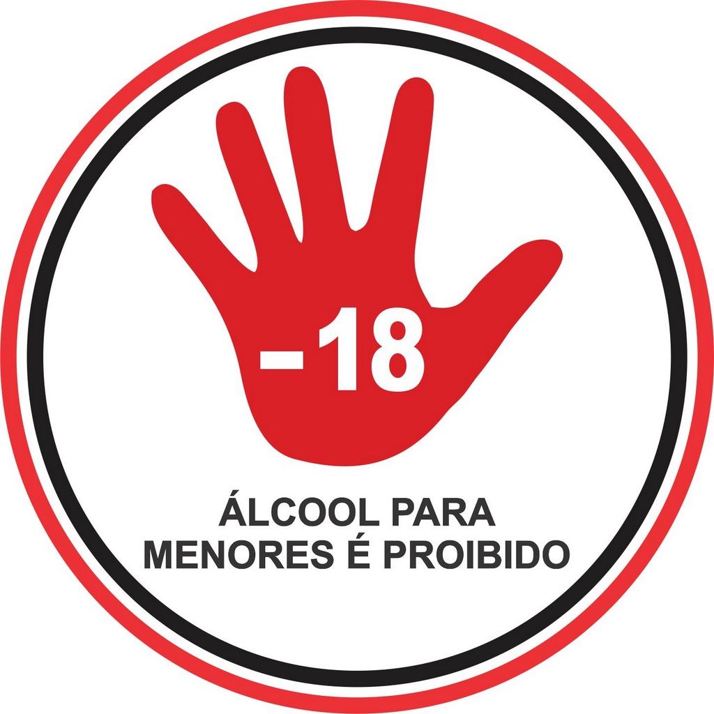 Etiqueta Proibido bebida para Menores