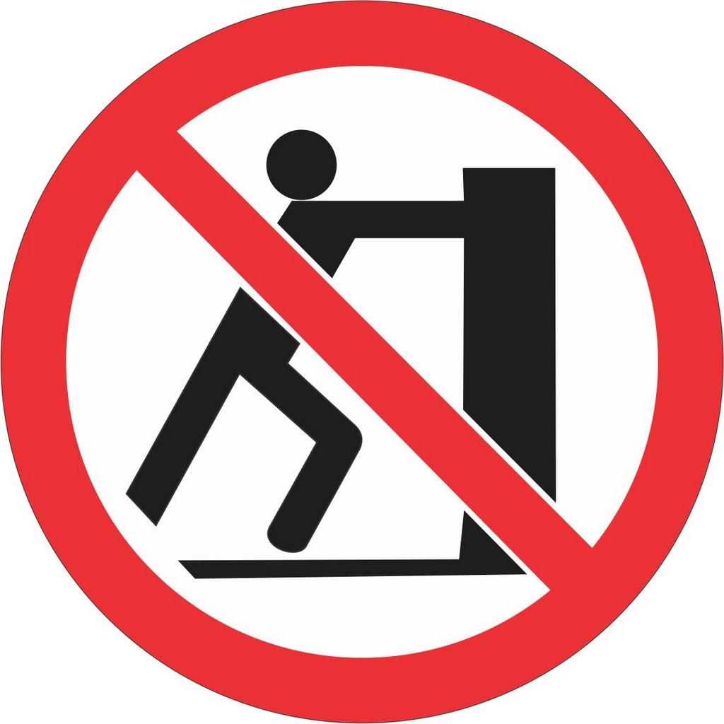 Etiqueta Proibido Empurrar
