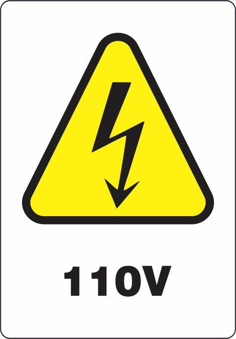 Etiquetas Risco de Perigo auto-colante - 100 V