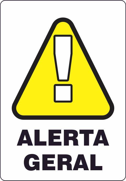 Etiquetas Risco de Perigo auto-colante - Alerta Geral