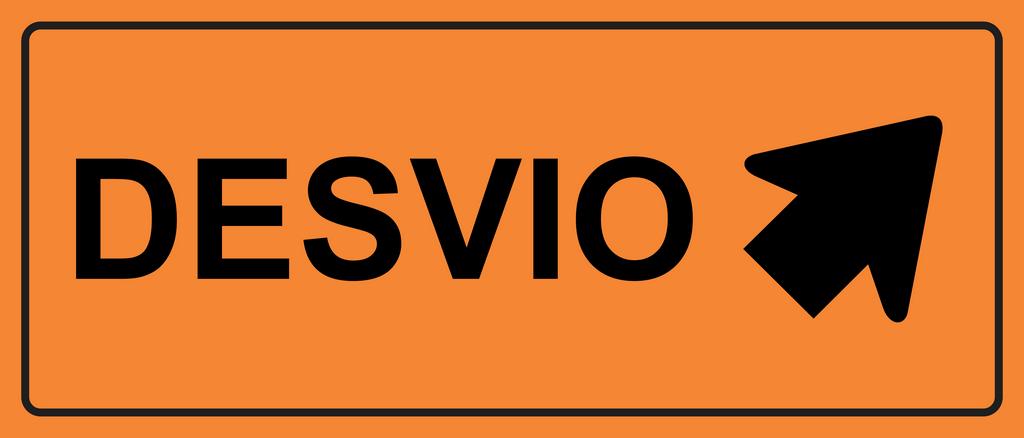 Placas sinalização de Obras 100x40cm - OEP 118