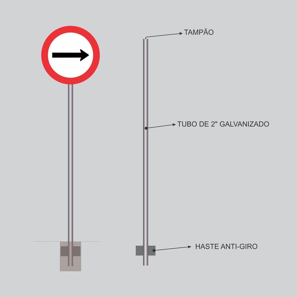 Postes para Placas - Tubo de 2