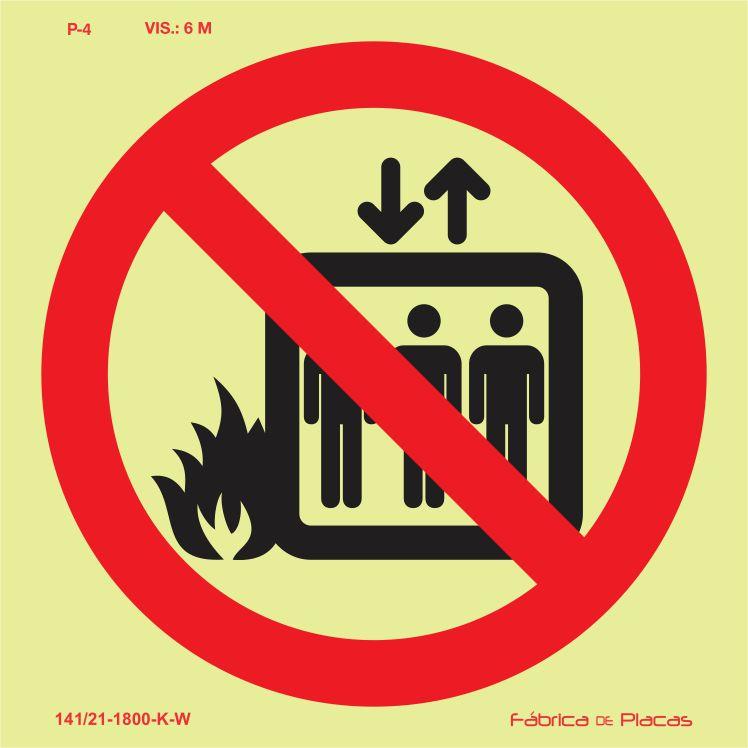 Proibições e Alertas Fotoluminescente - P4