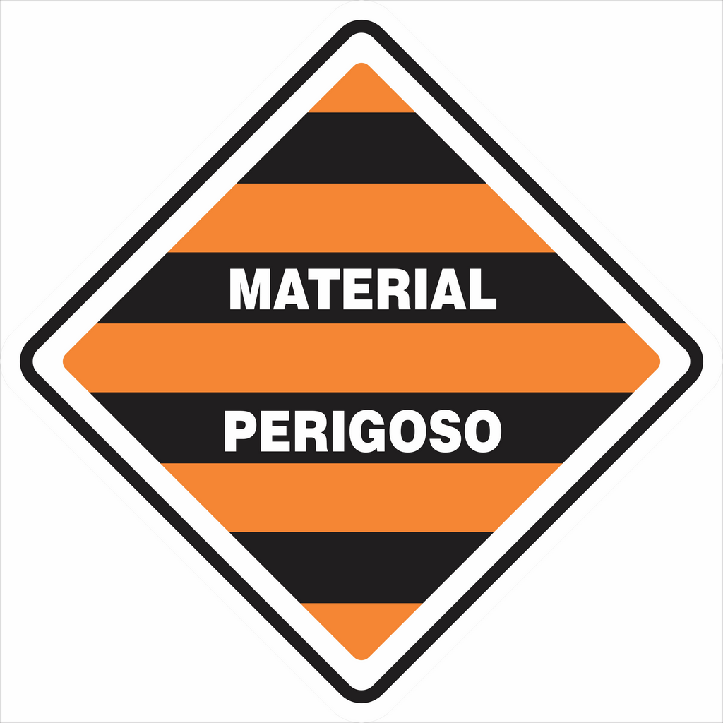 SIMBOLOGIA DE RISCO - MATERIAL PERIGOSO