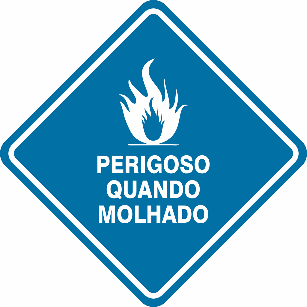 SIMBOLOGIA DE RISCO - PERIGOSO QUANDO MOLHADO