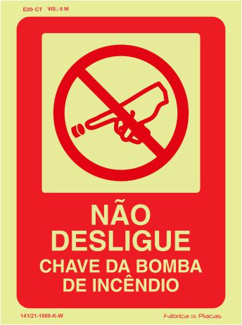 SINALIZAÇÃO DE EQUIPAMENTOS - E20-CT