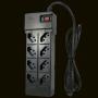 FILTRO DE LINHA CLAMPER 8 TOMADAS ICLAMPER ENERGIA 8 + TEL PRETO 013000