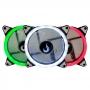 KIT 3 COOLER FAN 120MM + CONTROLADOR RISE MODE RM-FN-02-RGB LED RGB