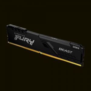 MEMORIA DDR4 8GB 2666MHZ KINGSTON FURY BEAST PRETO KF426C16BB/8
