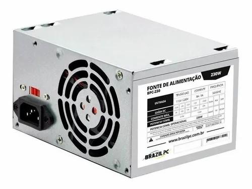 FONTE 230W BRAZILPC BPC-230V1.2