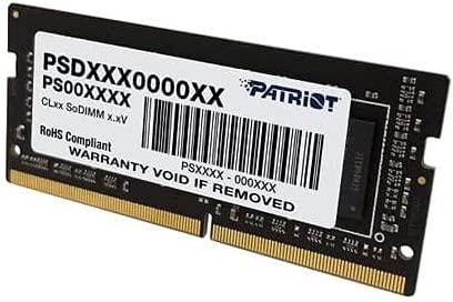 MEMORIA NOTEBOOK SODIMM DDR4 4GB 2666MHZ PATRIOT PSD44G266681S