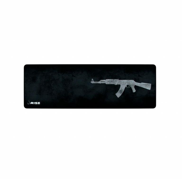 MOUSEPAD GAMER RISE MODE AK47 EXTENDED CINZA RG-MP-06-AK FIBERTEK 900X300X3M
