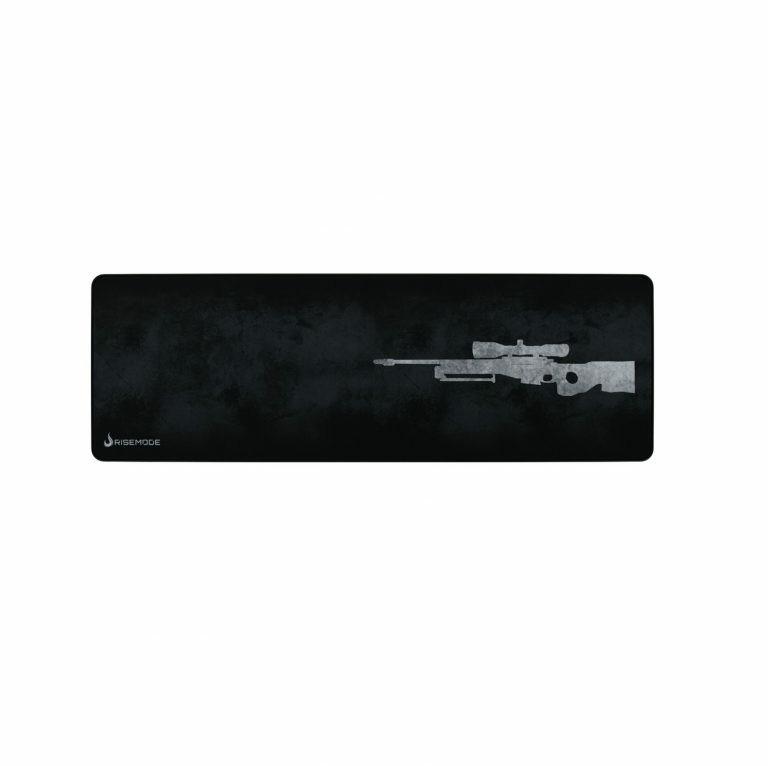 MOUSEPAD GAMER RISE MODE SNIPER EXTENDED CINZA RG-MP-06-SPG FIBERTEK 900X300X3MM