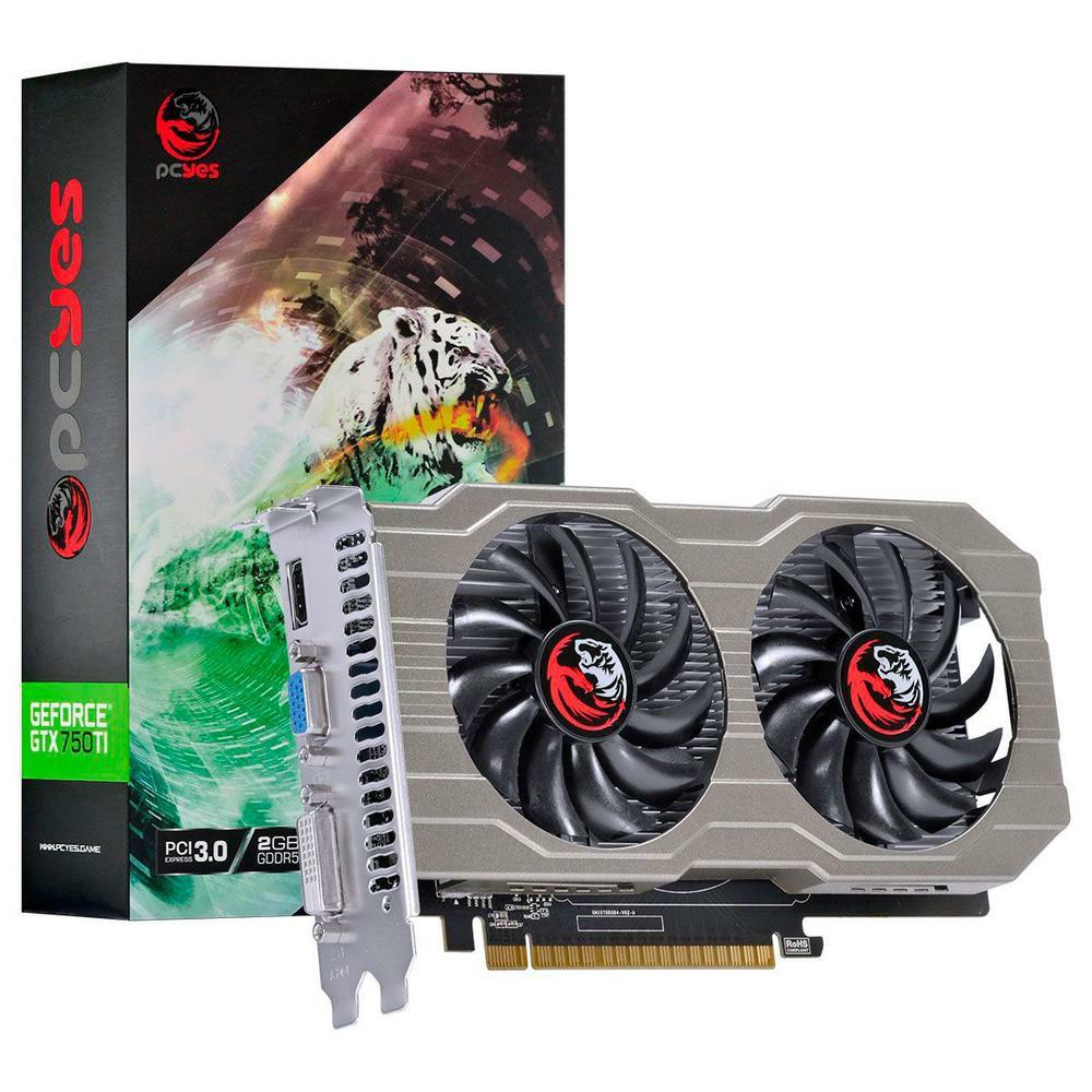 PLACA DE VIDEO GEFORCE GTX 750 TI 2GB PCYES PA75012802G5