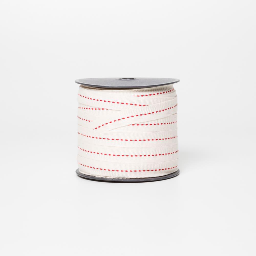 Cadarço Pontilhado Vermelho - 50 mts