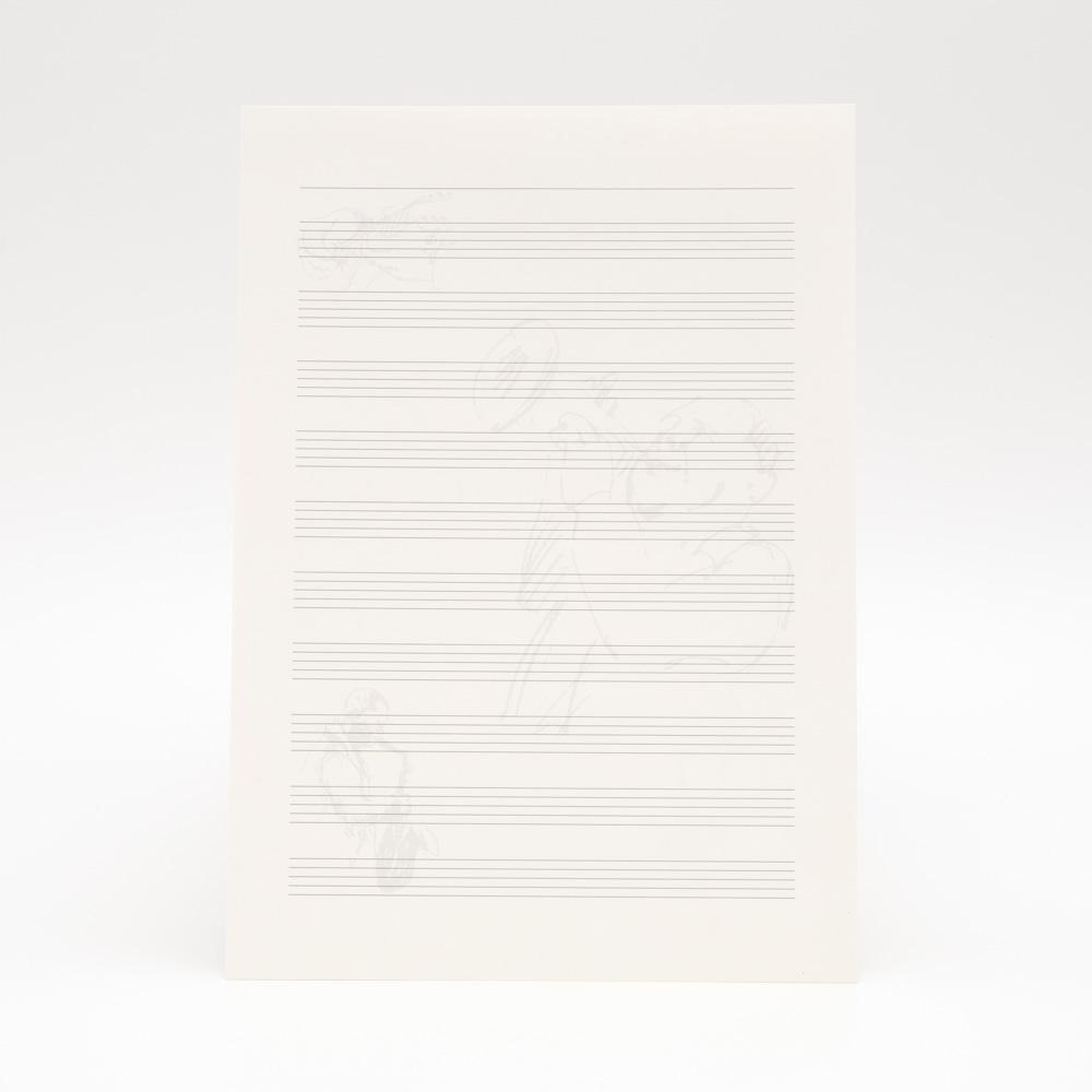 Papel pólen A4 90g/m² pauta musical - 25 fls