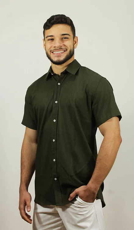 Camisa Viscolinho Verde