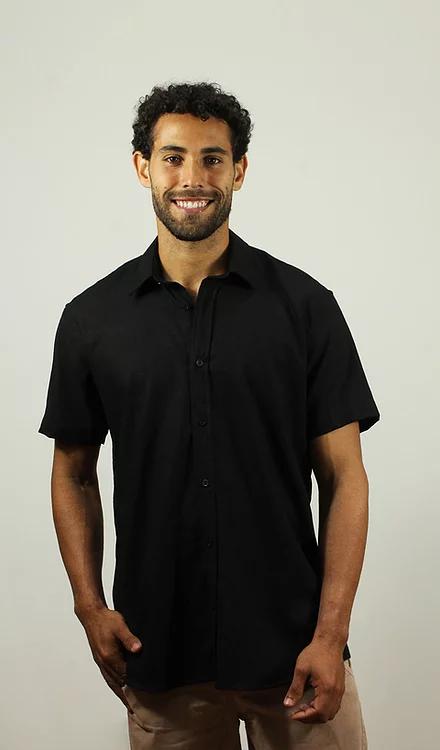 Camisa Viscolinho Preta