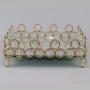 Bandeja Dourada Com Cristal 18x18cm Bico
