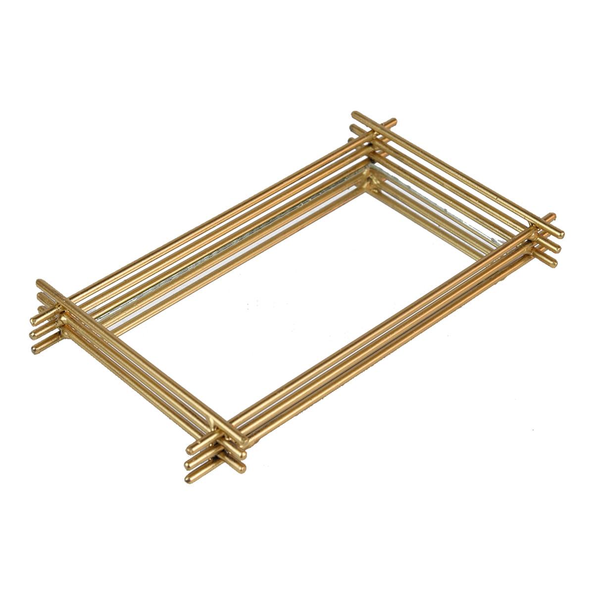 Bandeja 3 Filetes 15X25 Dourada