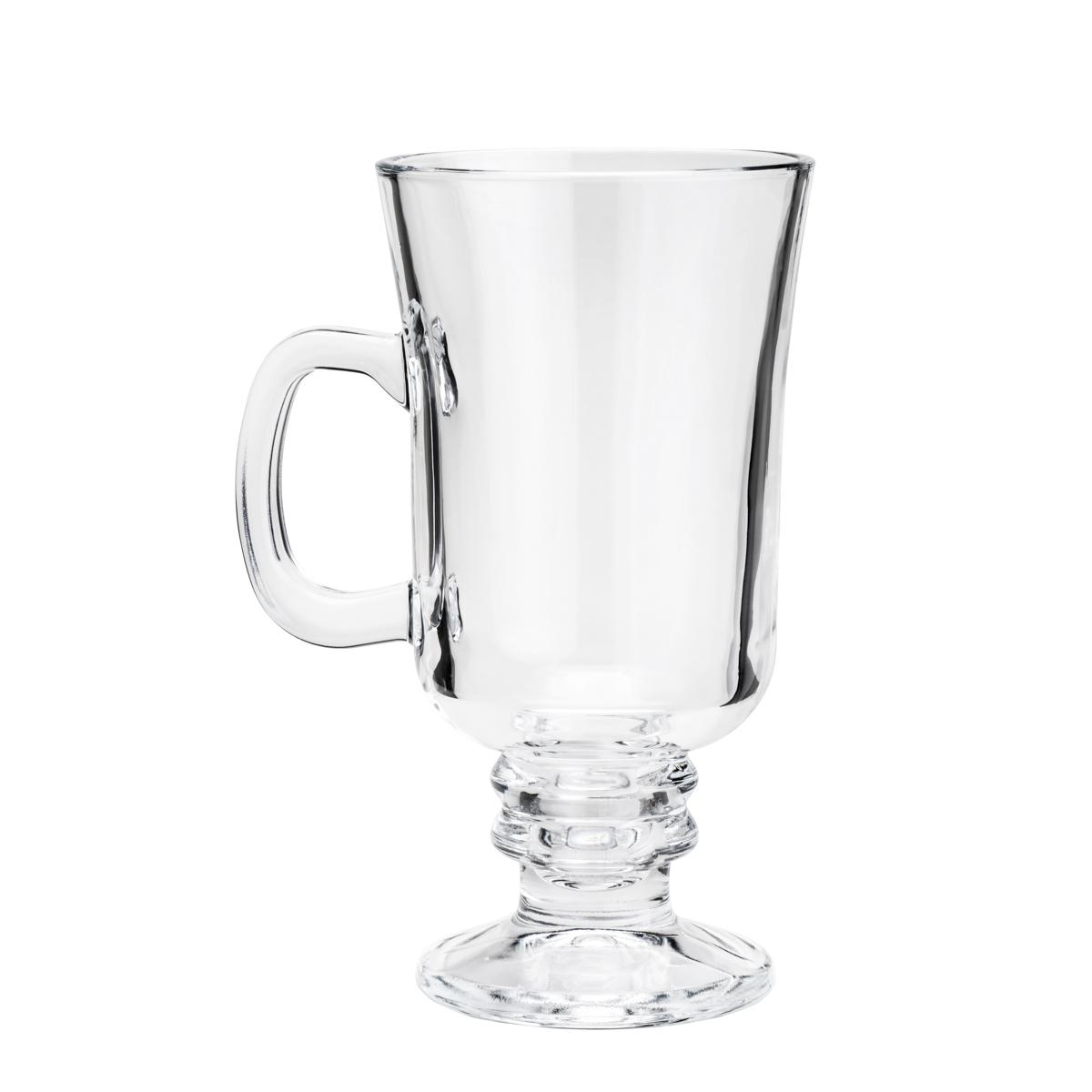 Cj 6 Taças P/ Cappuccino E Pé De Vidro Sodo-Cálcico 114Ml