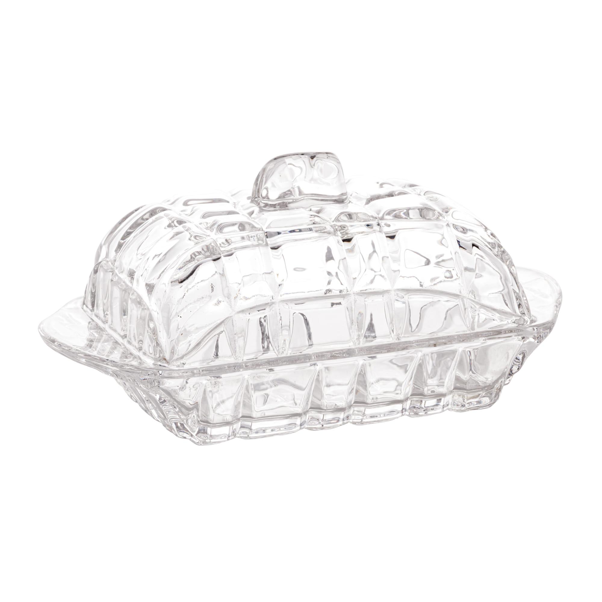 Manteigueira De Cristal De Chumbo Deli 17X10,5X8Cm