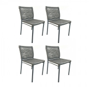 Kit com 4 Cadeiras Alteia