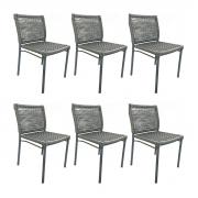 Kit com 6 Cadeiras Alteia