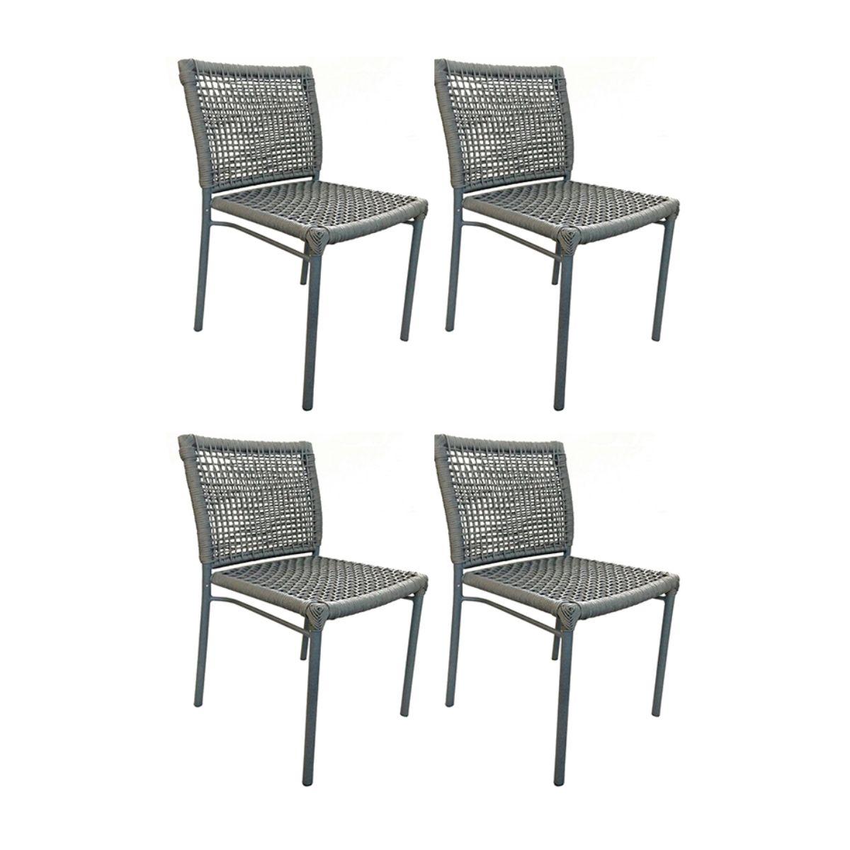 Kit com 4 Cadeiras Alteia  - ÁREA EXTERNA MÓVEIS