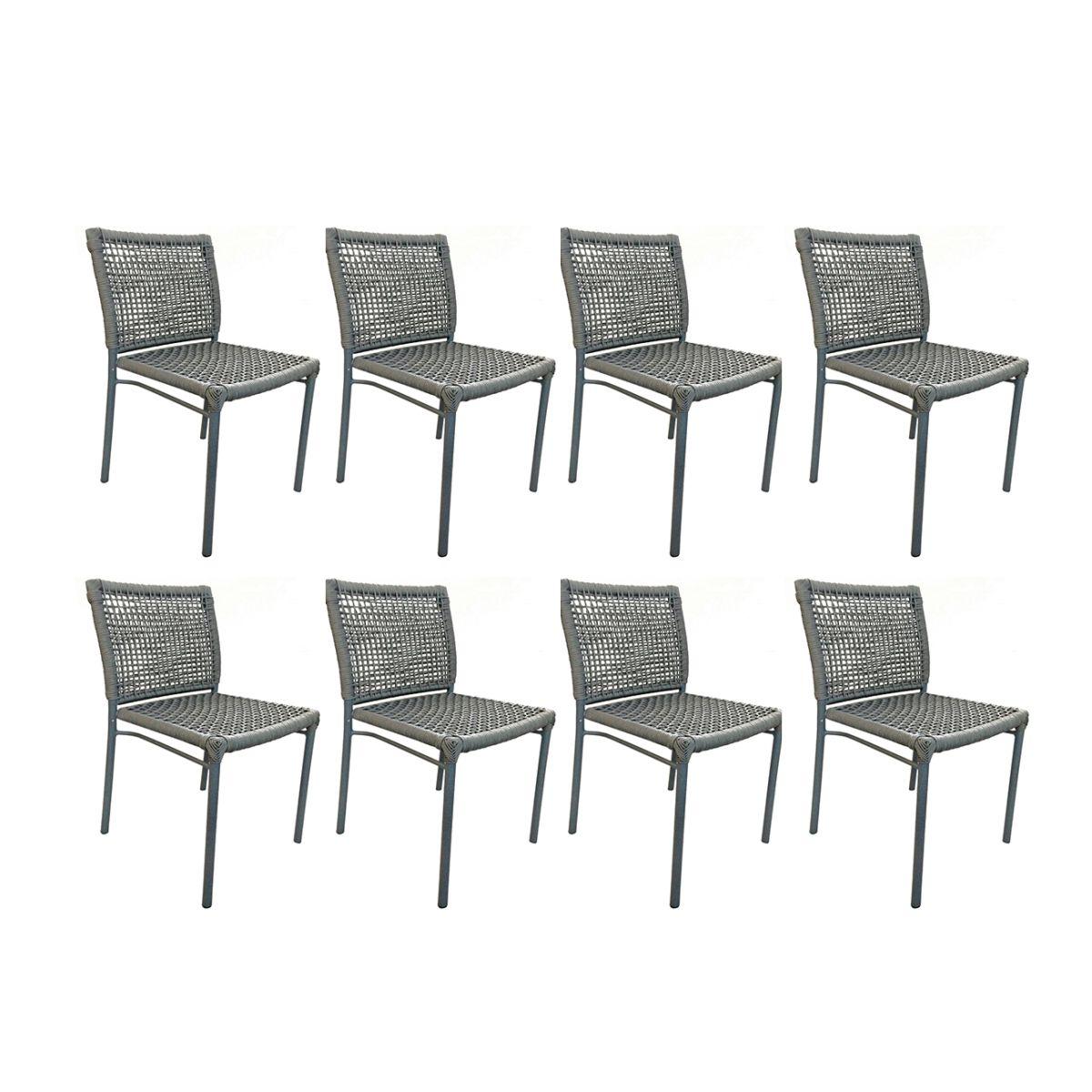 Kit com 8 Cadeiras Alteia  - ÁREA EXTERNA MÓVEIS
