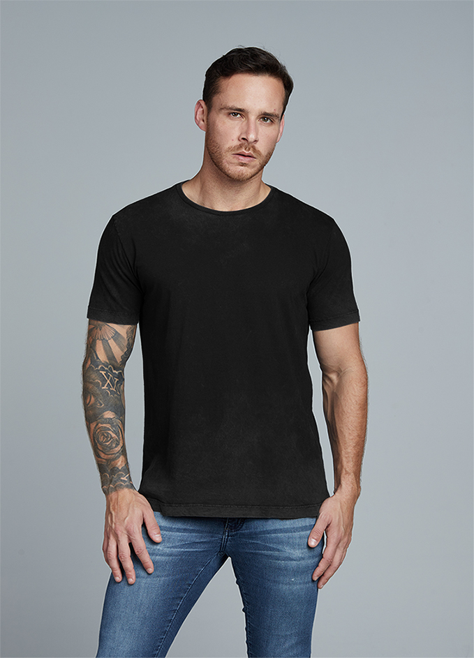 Camiseta Preta com Marmorizado Interno Kessler