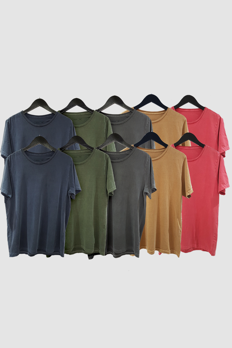 Kit 10 Camisetas de Malha Estonada Kessler